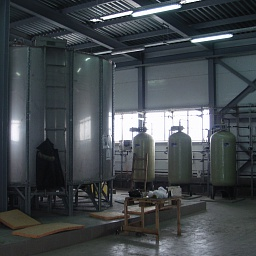 50 cbm, production of building materials factory